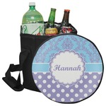 Purple Damask & Dots Collapsible Cooler & Seat (Personalized)