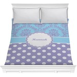 Purple Damask & Dots Comforter (Personalized)