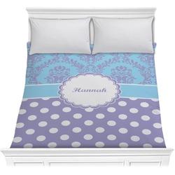 Purple Damask & Dots Comforter (Personalized)