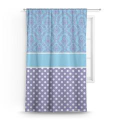 """Purple Damask & Dots Curtain - 50""""x84"""" Panel (Personalized)"""