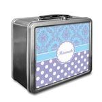 Purple Damask & Dots Lunch Box (Personalized)