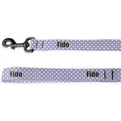 Purple Damask & Dots Deluxe Dog Leash (Personalized)