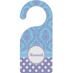 Purple Damask & Dots Door Hanger (Personalized)