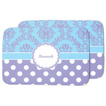 Purple Damask & Dots Dish Drying Mat w/ Name or Text