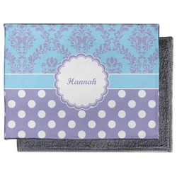 Purple Damask & Dots Microfiber Screen Cleaner (Personalized)