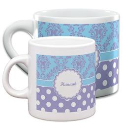 Purple Damask & Dots Espresso Cups (Personalized)