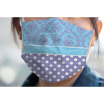 Purple Damask & Dots Face Mask Cover (Personalized)