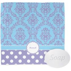 Purple Damask & Dots Wash Cloth (Personalized)
