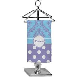 Purple Damask & Dots Finger Tip Towel - Full Print (Personalized)