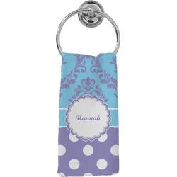 Purple Damask & Dots Hand Towel - Full Print (Personalized)