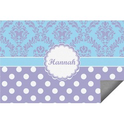Purple Damask & Dots Indoor / Outdoor Rug - 8'x10' (Personalized)