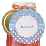 Purple Damask & Dots Jar Opener (Personalized)