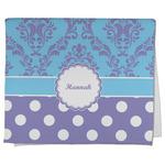 Purple Damask & Dots Kitchen Towel - Full Print (Personalized)