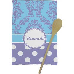 Purple Damask & Dots Kitchen Towel - Full Print (Personalized)