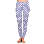 Purple Damask & Dots Ladies Leggings (Personalized)
