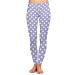 Purple Damask & Dots Ladies Leggings (Personalized)