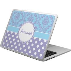 Purple Damask & Dots Laptop Skin - Custom Sized (Personalized)