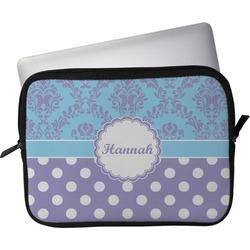 "Purple Damask & Dots Laptop Sleeve / Case - 13"" (Personalized)"