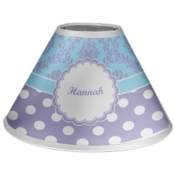 Purple Damask & Dots Coolie Lamp Shade (Personalized)
