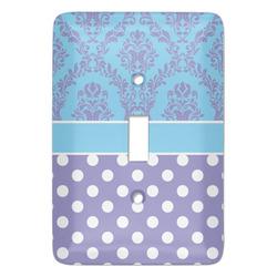 Purple Damask & Dots Light Switch Covers (Personalized)