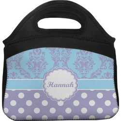 Purple Damask & Dots Lunch Tote (Personalized)