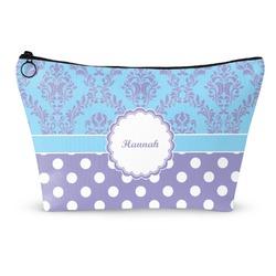 Purple Damask & Dots Makeup Bags (Personalized)