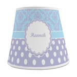 Purple Damask & Dots Empire Lamp Shade (Personalized)