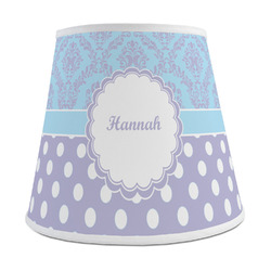 Purple Damask & Dots Empire Lamp Shade (Personalized)