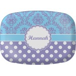 Purple Damask & Dots Melamine Platter (Personalized)