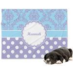 Purple Damask & Dots Minky Dog Blanket (Personalized)