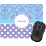 Purple Damask & Dots Mouse Pads (Personalized)