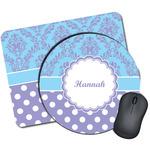 Purple Damask & Dots Mouse Pads (Personalized)