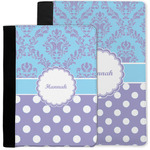 Purple Damask & Dots Notebook Padfolio w/ Name or Text