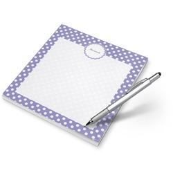 Purple Damask & Dots Notepad (Personalized)