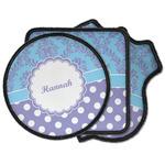 Purple Damask & Dots Iron on Patches (Personalized)