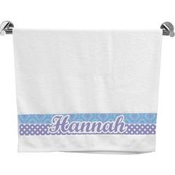 Purple Damask & Dots Bath Towel (Personalized)