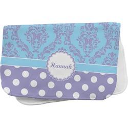 Purple Damask & Dots Burp Cloth (Personalized)