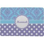 Purple Damask & Dots Comfort Mat (Personalized)