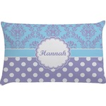 Purple Damask & Dots Pillow Case (Personalized)