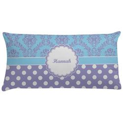 Purple Damask & Dots Pillow Case (Personalized)