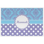 Purple Damask & Dots Placemat (Laminated) (Personalized)