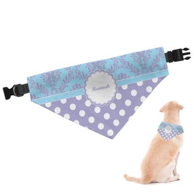 Purple Damask & Dots Dog Bandana (Personalized)