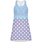 Purple Damask & Dots Racerback Dress (Personalized)