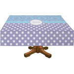 Purple Damask & Dots Rectangle Tablecloth (Personalized)