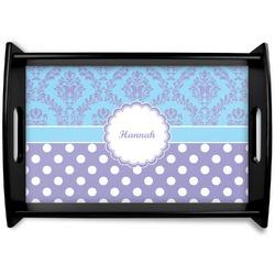 Purple Damask & Dots Wooden Trays (Personalized)