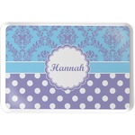 Purple Damask & Dots Serving Tray (Personalized)