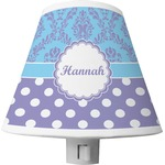 Purple Damask & Dots Shade Night Light (Personalized)
