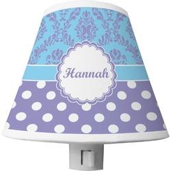 Purple Damask & Dots Shade Night Light (Personalized)