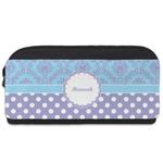 Purple Damask & Dots Shoe Bag (Personalized)