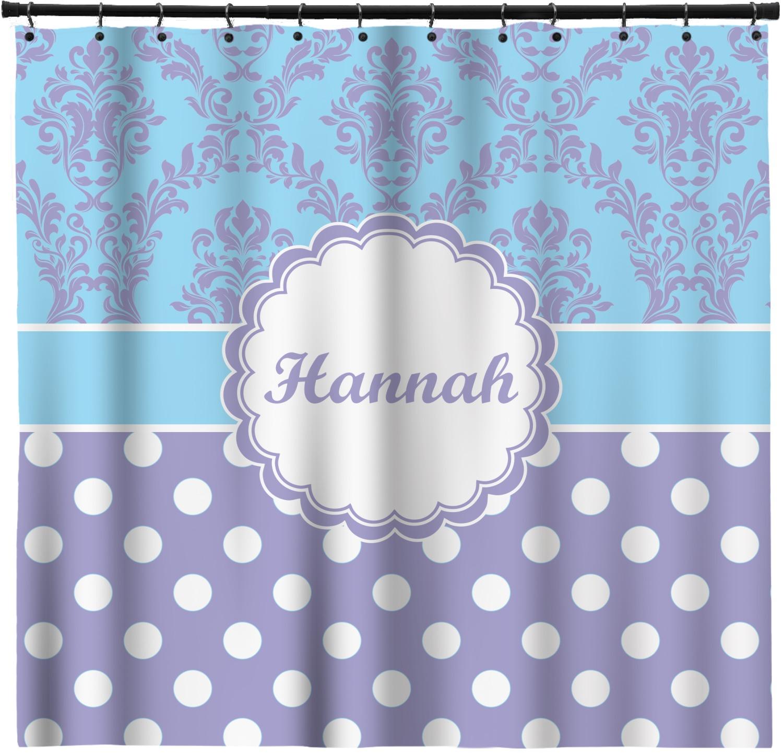 Purple Damask Dots Shower Curtain Personalized Youcustomizeit